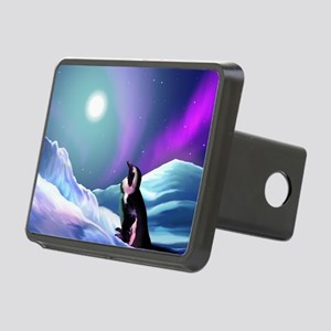 Contemplative Penguin Rectangular Hitch Cover