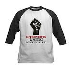Introverts Unite Kids Baseball Jersey