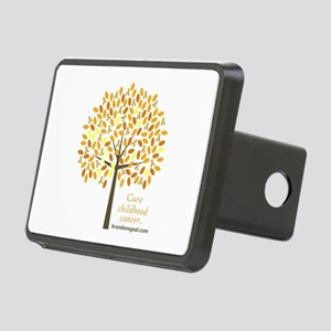 Gold Ribbon Tree Rectangular Hitch Cover