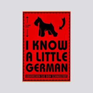I Know a Little German! Schnauzer Magnet