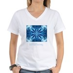 Buddha Think Quote Women's V-Neck T-Shirt