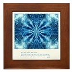 Buddha Think Quote Framed Tile