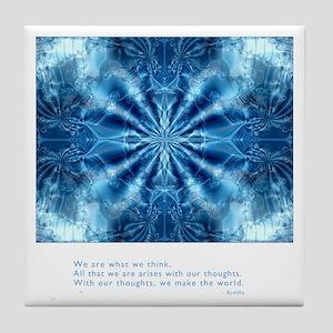 Buddha Think Quote Tile Coaster