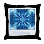 Buddha Think Quote Throw Pillow