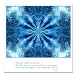 Buddha Think Quote Square Car Magnet 3