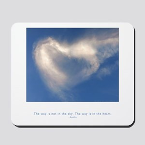 Buddha Heart Quote Mousepad