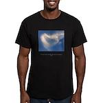 Buddha Heart Quote Men's Fitted T-Shirt (dark)