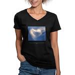 Buddha Heart Quote Women's V-Neck Dark T-Shirt