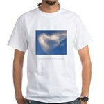 Buddha Heart Quote White T-Shirt