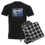 Buddha Heart Quote Men's Dark Pajamas