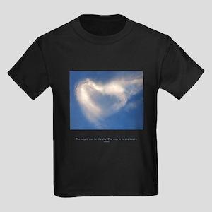 Buddha Heart Quote Kids Dark T-Shirt