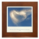 Buddha Heart Quote Framed Tile