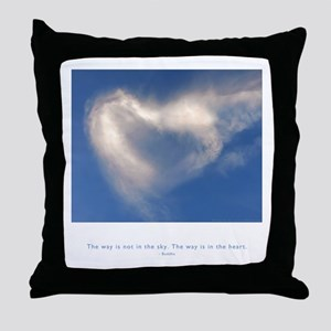 Buddha Heart Quote Throw Pillow