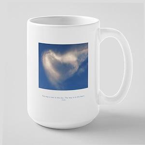 Buddha Heart Quote Large Mug