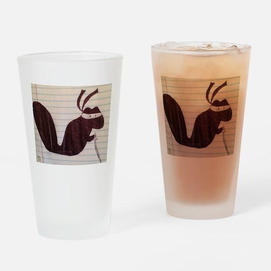Ninja Squirrel Drinking Glass