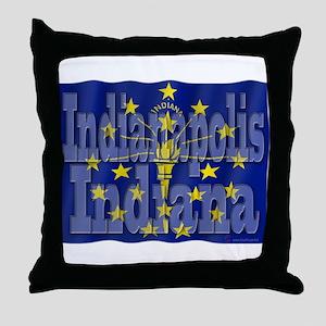 Indianapolis, Indiana Throw Pillow