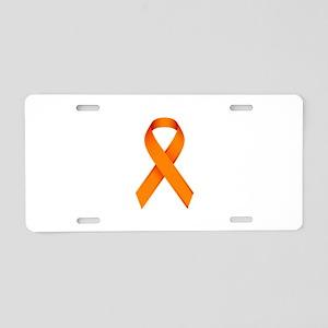 Orange Ribbon Aluminum License Plate