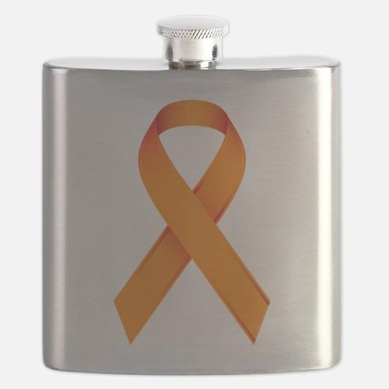Orange Ribbon Flask