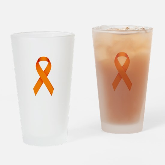 Orange Ribbon Drinking Glass