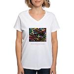 Magic Reveals Itself Quote Women's V-Neck T-Shirt