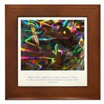 Magic Reveals Itself Quote Framed Tile