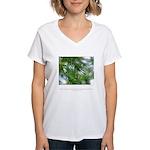 Heaven in Raindrop Quote Women's V-Neck T-Shirt