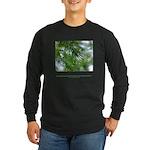 Heaven in Raindrop Quote Long Sleeve Dark T-Shirt