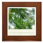 Heaven in Raindrop Quote Framed Tile