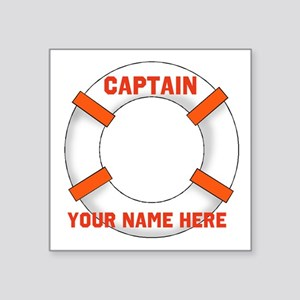 "custom Captain Square Sticker 3"" x 3"""