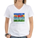 Grandest Visions Quote Women's V-Neck T-Shirt