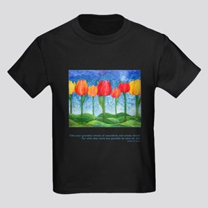 Grandest Visions Quote Kids Dark T-Shirt