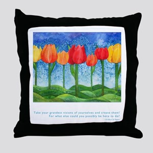 Grandest Visions Quote Throw Pillow