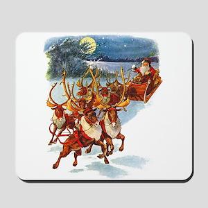 Santa & His Flying Reindeer Mousepad