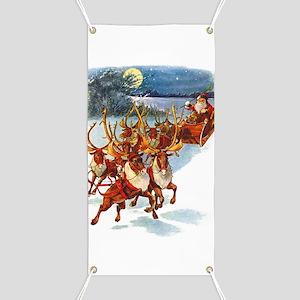 Santa & His Flying Reindeer Banner