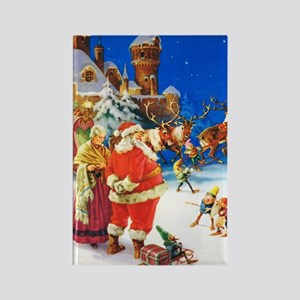 Santa & Mrs. Claus at the North P Rectangle Magnet