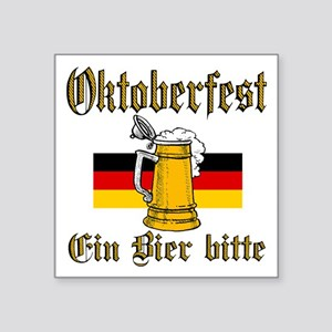 "ein beer Square Sticker 3"" x 3"""