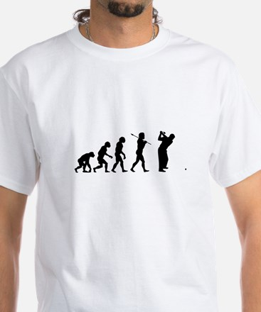 Funny Golf White T-Shirt