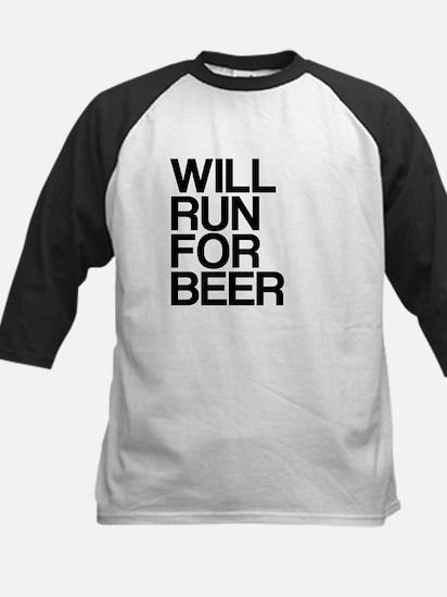 WILL RUN FOR BEER Kids Baseball Jersey