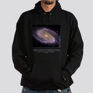 Everything is Conscious Quote Hoodie (dark)