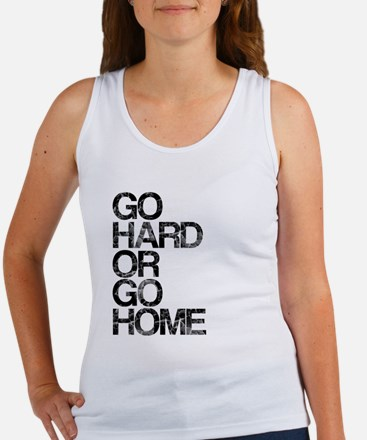 Go Hard or Go Home, Aged, Women's Tank Top