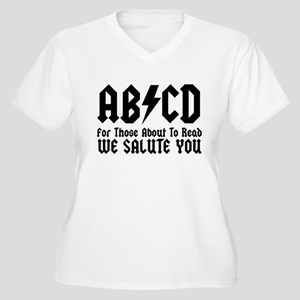 ABCD, We Salute You, Women's Plus Size V-Neck T-Sh