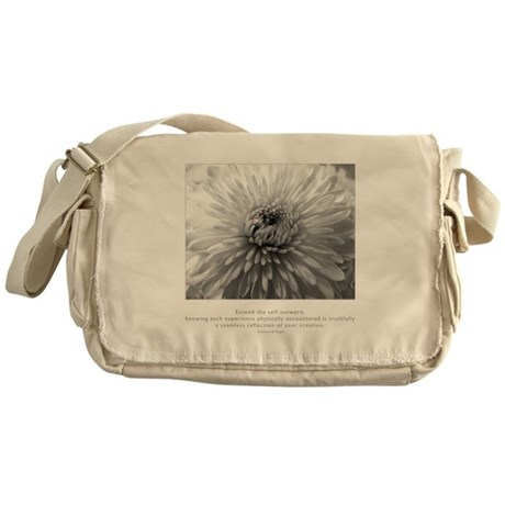 Reflection Creation Quote Messenger Bag
