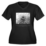 Reflection Creation Quote Women's Plus Size V-Neck