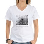 Reflection Creation Quote Women's V-Neck T-Shirt