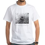 Reflection Creation Quote White T-Shirt