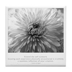 Reflection Creation Quote Tile Coaster