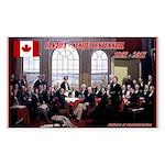 Canadian Sesquicentennia Sticker (Rectangle 50 pk)