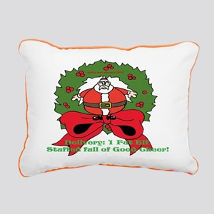 Fat Elf Christmas Rectangular Canvas Pillow