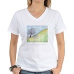 Wise Man Sees Quote Women's V-Neck T-Shirt