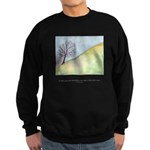 Wise Man Sees Quote Sweatshirt (dark)